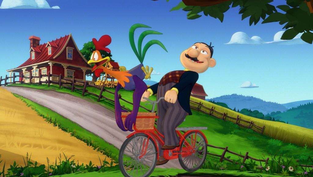 Le maire et le coq à vélo