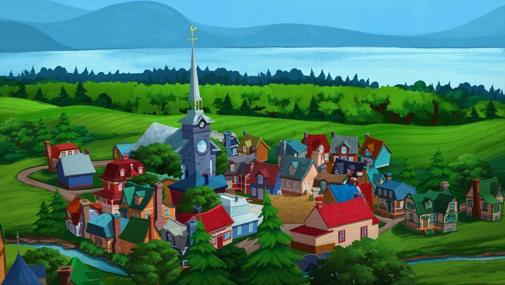 Le village de St-Victor