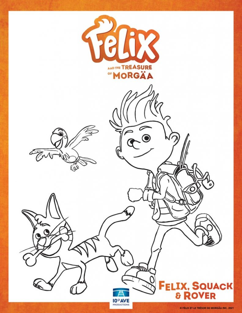 Colouring page preview of Felix and the Treasure and Morgäa