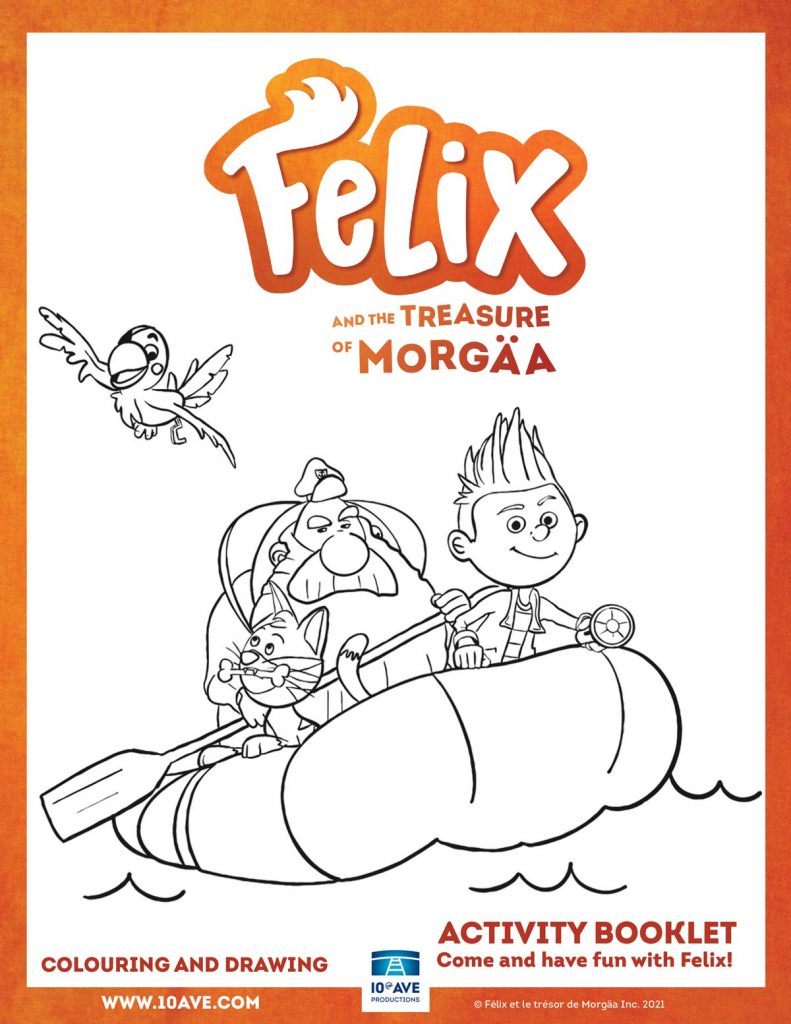 Colouring Pages from Felix and the Treasure of Morgäa